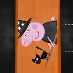 Convite Chalkboard Peppa Pig Halloween