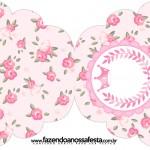 Convite Cupcake Coroa de Princesa Rosa Floral