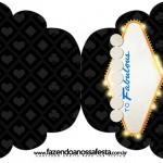 Convite Cupcake Kit Festa Las Vegas Poker