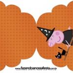Convite Cupcake Peppa Pig Halloween