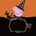 Convite Festa Peppa Pig Halloween