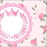 Convite Ingresso Coroa de Princesa Rosa Floral