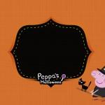 Convite Peppa Pig Halloween 2