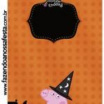 Convite Pirulito Peppa Pig Halloween