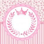 Kit Festa Coroa de Princesa Rosa Floral – Grátis