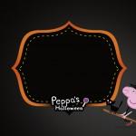 Convite para Festa Peppa Pig Halloween