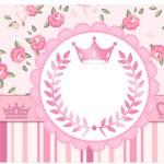 Copinho de Brigadeiro Coroa de Princesa Rosa Floral