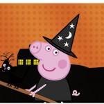 Copinho de brigadeiro Peppa Pig Halloween