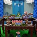 Decoração Bolo Festa George Pig do Yan