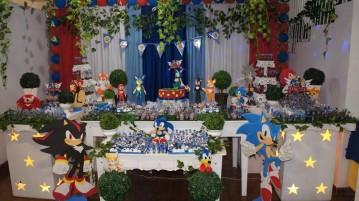 Decoração Festa Sonic do Matheus