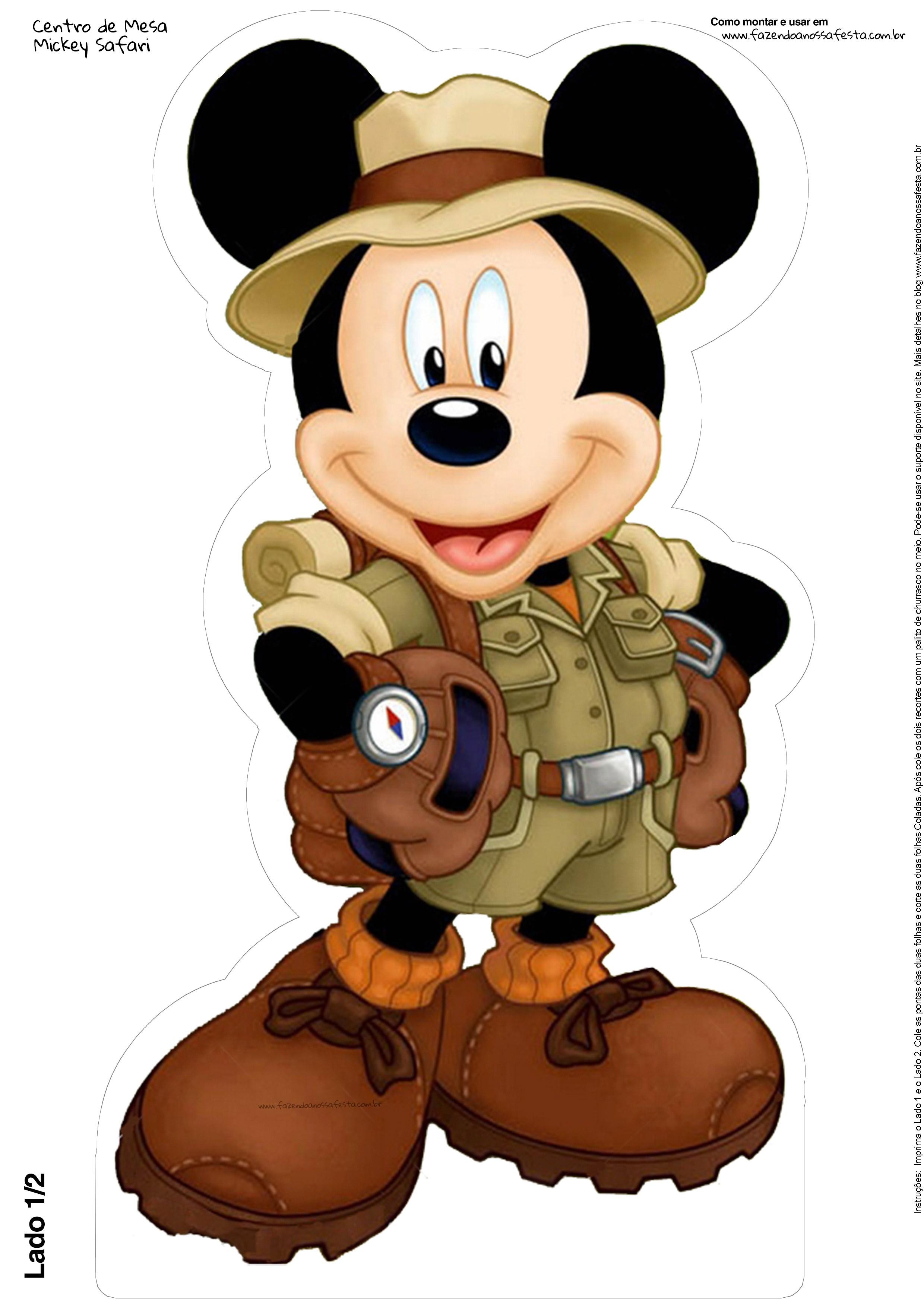 Centro de Mesa Mickey Safari Grátis