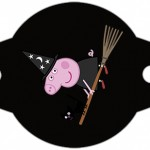 Enfeite Canudinho Peppa Pig Halloween