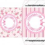 Envelope CD DVD Coroa de Princesa Rosa Floral