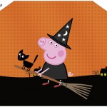 Envelope Convite Peppa Pig Halloween