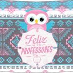 Esmalte Risque 2 Dia Dos Professores Coruja Rosinha e Azul
