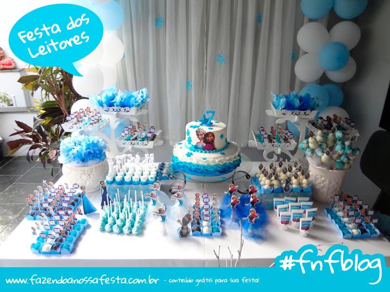 Festa Leitores Modelo Frozen