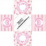 Forminhas Docinhos Quadrada Coroa de Princesa Rosa Floral