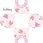 Forminhas docinhos 3D Coroa de Princesa Rosa Floral