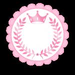 Frame Coroa de Princesa Rosa Floral