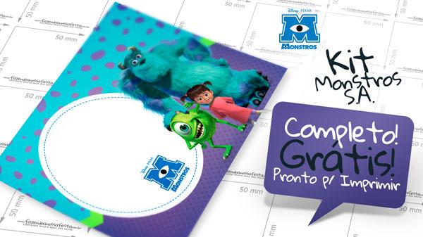 Kit Festa Monstros S.A.