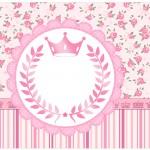 Lata de Leite Coroa de Princesa Rosa Floral