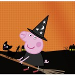 Lata de Leite Peppa Pig Halloween