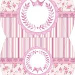 Maleta Coroa de Princesa Rosa Floral