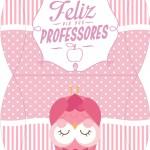 Maleta Dia dos Professores Corujinha Rosa
