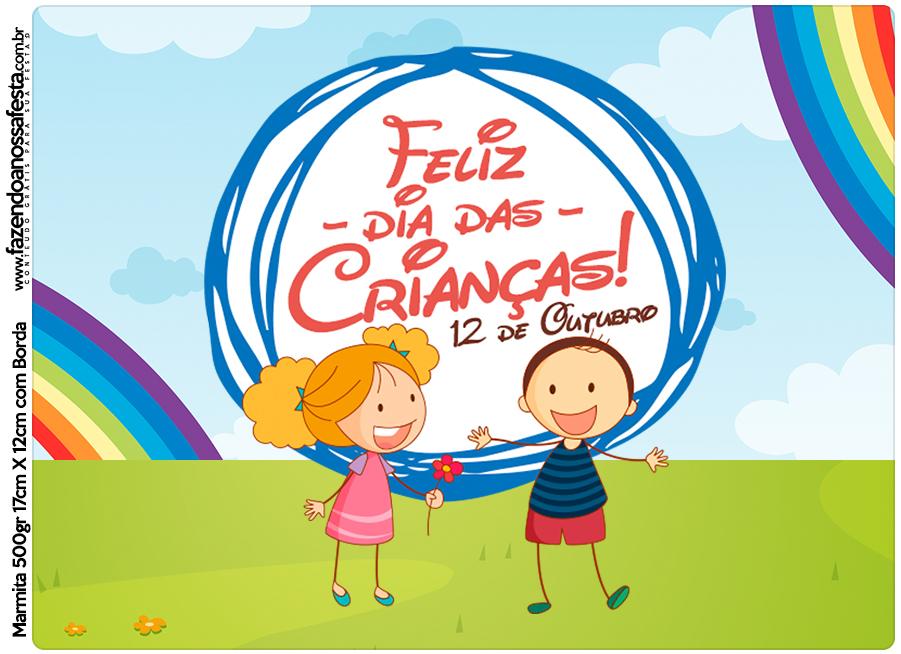 Marmita 500gr Dia das Crianças Lembrancinha