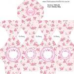Meia Caixa Bala Coroa de Princesa Rosa Floral