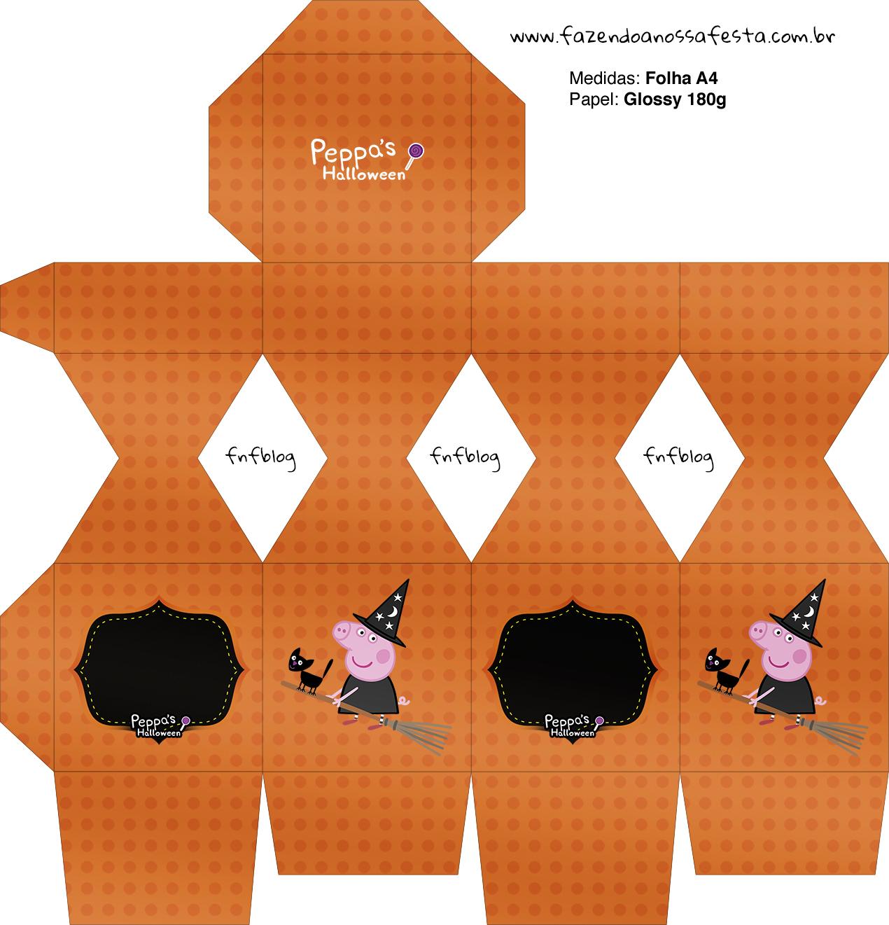 Meia Caixa Bala Peppa Pig Halloween