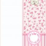 Menu Coroa de Princesa Rosa Floral