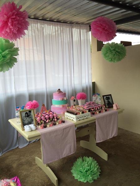 Mesa Decoração Chá De Fraldas Da Ana Luísa Fazendo A Nossa Festa