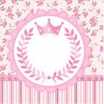 Mini Confeti Coroa de Princesa Rosa Floral