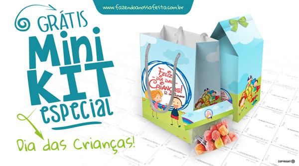 Mini Kit Lembrancinhas Dia das Crianças