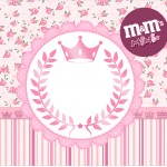 Mini M&M Coroa de Princesa Rosa Floral