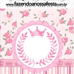 Mini Pastilha Docile Coroa de Princesa Rosa Floral