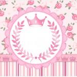 Molde Caixa de Bombom Coroa de Princesa Rosa Floral