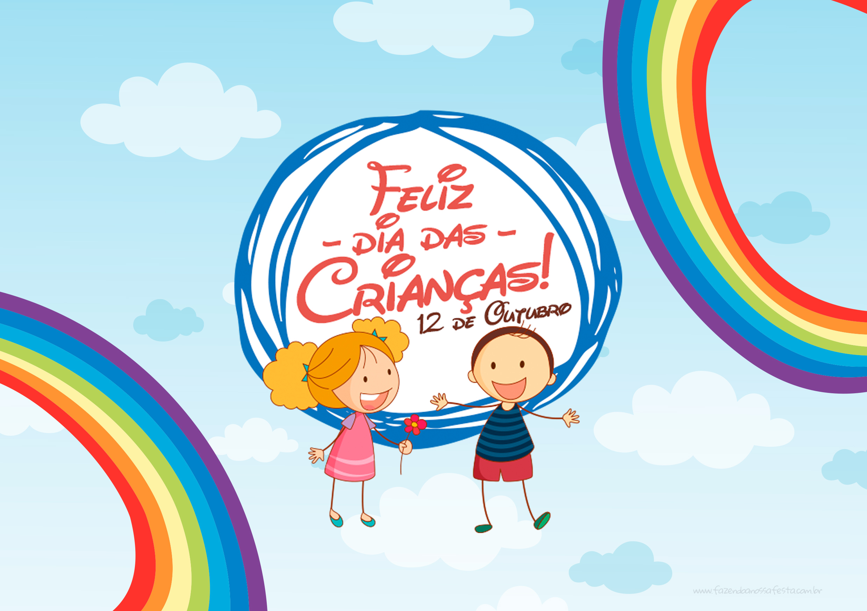 Molde Cartão Dia das Crianças