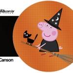 Molde Porta Guardanapos Peppa Pig Halloween