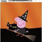 Molde Quadrado qualquer tamanho Peppa Pig Halloween