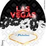 Molde Tubete Oval Kit Festa Las Vegas Poker