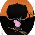 Molde Tubete Oval Peppa Pig Halloween