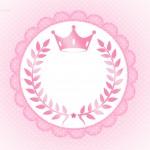 Molde para tag Coroa de Princesa Rosa Floral