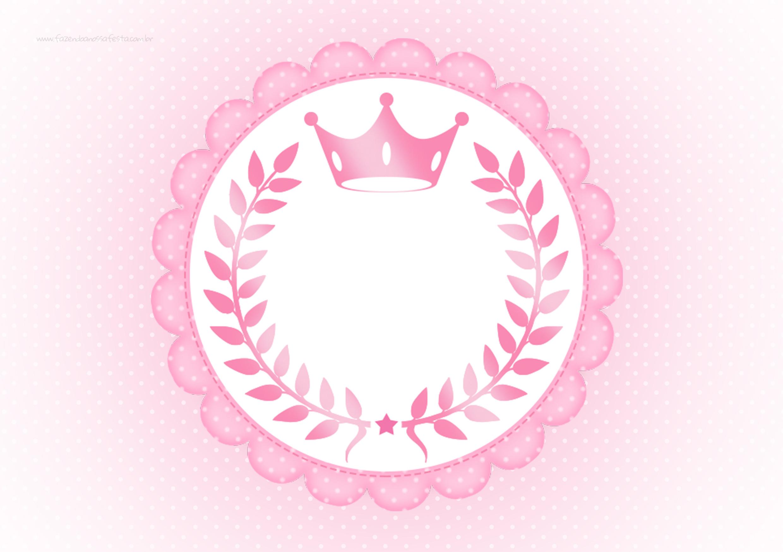 Molde Para Tag Coroa De Princesa Rosa Floral Fazendo A Nossa Festa