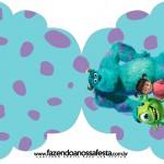 Convite Cupcake Monstros S.A