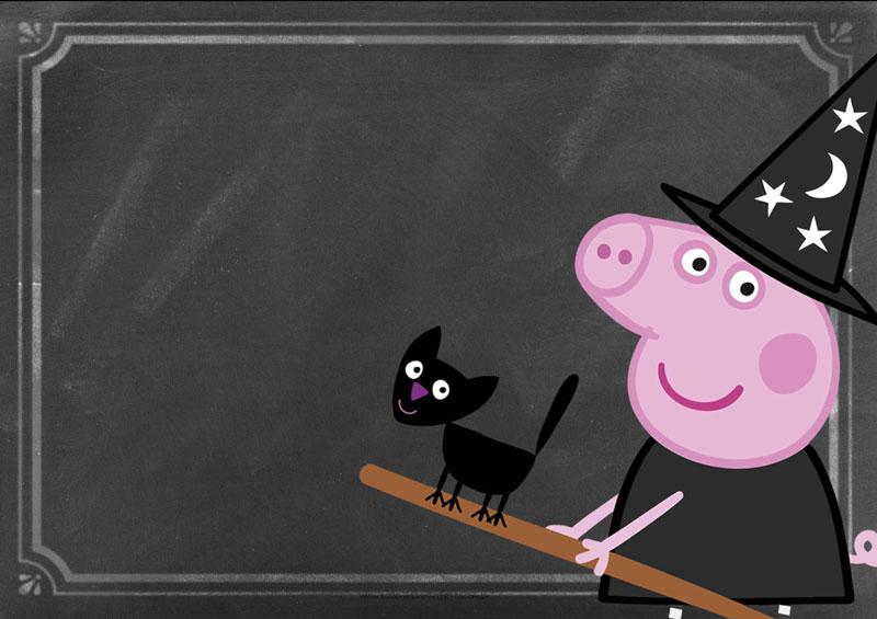 Peppa Pig Halloween Kit Festa Convite