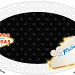 Placa Elipse Kit Festa Las Vegas Poker