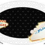 Placa Elipse Kit Festa Las Vegas Poker