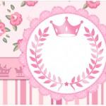 Rótulo Água Coroa de Princesa Rosa Floral
